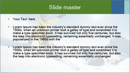 Snowboard Action PowerPoint Template - Slide 2