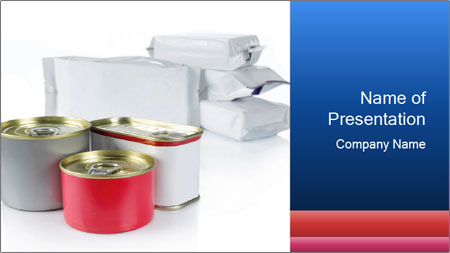 Food Containers PowerPoint Template