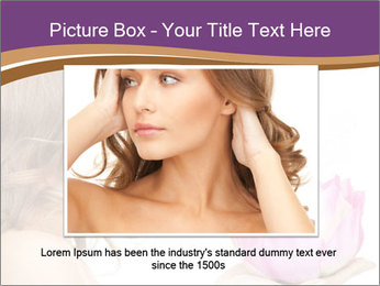 Woman Holding Pink Lotus PowerPoint Template - Slide 16