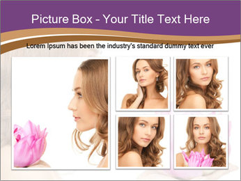 Woman Holding Pink Lotus PowerPoint Templates - Slide 19
