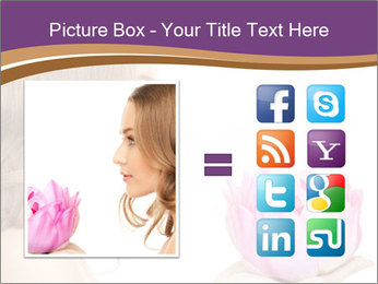 Woman Holding Pink Lotus PowerPoint Template - Slide 21