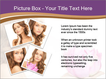 Woman Holding Pink Lotus PowerPoint Template - Slide 23