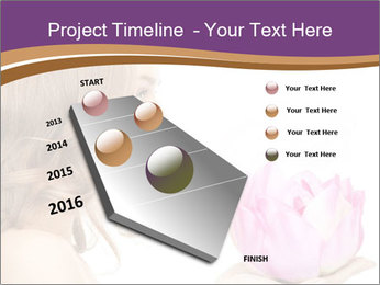 Woman Holding Pink Lotus PowerPoint Template - Slide 26