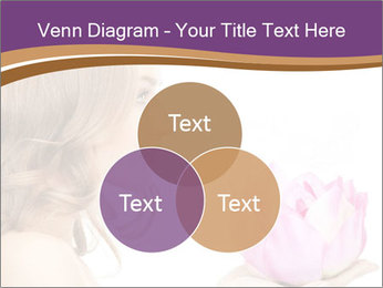 Woman Holding Pink Lotus PowerPoint Template - Slide 33