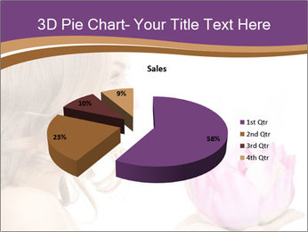 Woman Holding Pink Lotus PowerPoint Templates - Slide 35