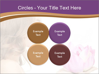 Woman Holding Pink Lotus PowerPoint Templates - Slide 38
