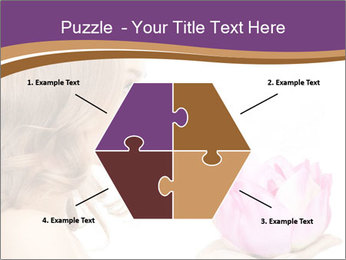 Woman Holding Pink Lotus PowerPoint Template - Slide 40