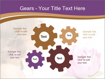 Woman Holding Pink Lotus PowerPoint Templates - Slide 47