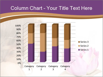 Woman Holding Pink Lotus PowerPoint Template - Slide 50