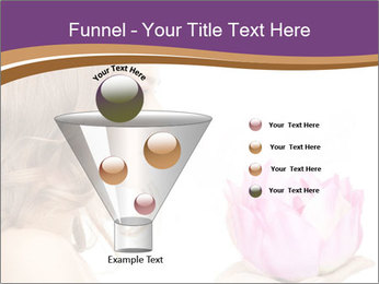 Woman Holding Pink Lotus PowerPoint Template - Slide 63