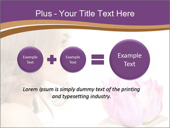 Woman Holding Pink Lotus PowerPoint Template - Slide 75