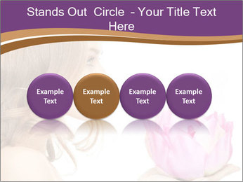 Woman Holding Pink Lotus PowerPoint Templates - Slide 76