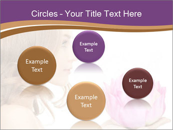 Woman Holding Pink Lotus PowerPoint Template - Slide 77