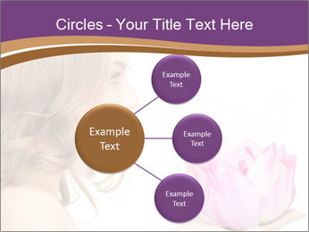 Woman Holding Pink Lotus PowerPoint Template - Slide 79