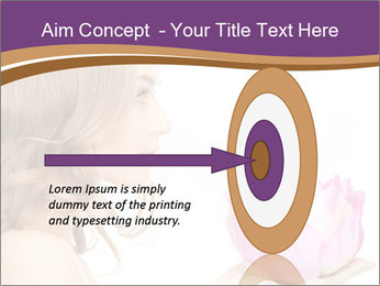 Woman Holding Pink Lotus PowerPoint Template - Slide 83