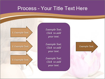 Woman Holding Pink Lotus PowerPoint Templates - Slide 85