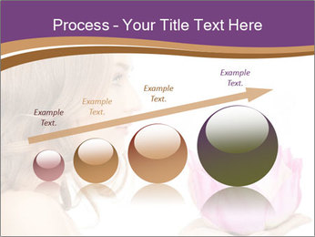 Woman Holding Pink Lotus PowerPoint Template - Slide 87