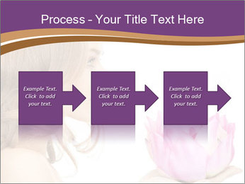 Woman Holding Pink Lotus PowerPoint Template - Slide 88