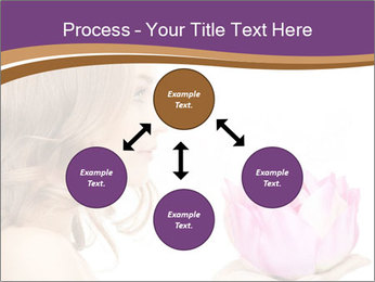 Woman Holding Pink Lotus PowerPoint Templates - Slide 91