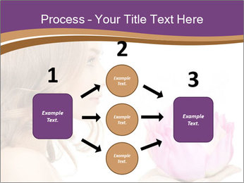 Woman Holding Pink Lotus PowerPoint Template - Slide 92