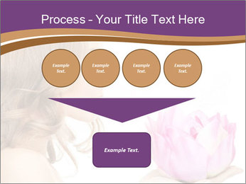 Woman Holding Pink Lotus PowerPoint Template - Slide 93