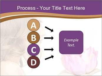 Woman Holding Pink Lotus PowerPoint Template - Slide 94