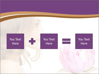 Woman Holding Pink Lotus PowerPoint Template - Slide 95
