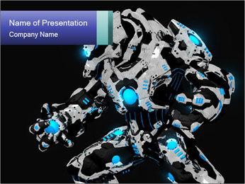 Robot Illustration PowerPoint Template - Slide 1