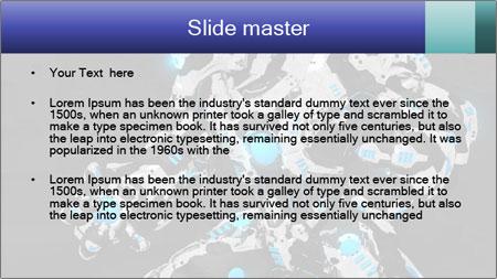 Robot Illustration PowerPoint Template - Slide 2