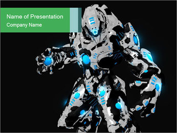 3D Graphic Robot PowerPoint Template