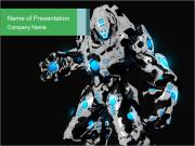 3D Graphic Robot PowerPoint Templates