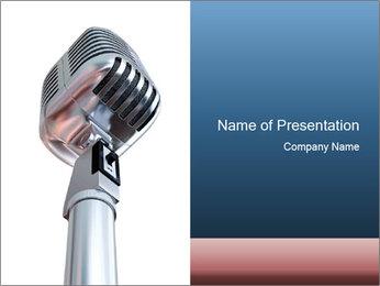 3D Microphone PowerPoint Template - Slide 1