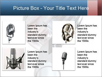 3D Microphone PowerPoint Template - Slide 14