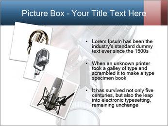 3D Microphone PowerPoint Template - Slide 17