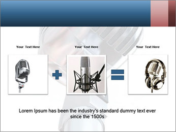 3D Microphone PowerPoint Template - Slide 22
