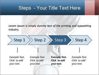 3D Microphone PowerPoint Template - Slide 4