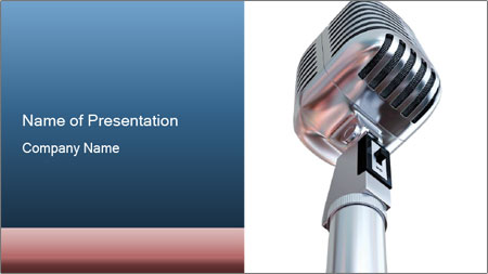 3D Microphone PowerPoint Template