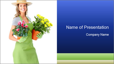 Smiling Florist PowerPoint Template