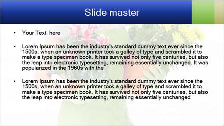 Smiling Florist PowerPoint Template - Slide 2