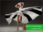 Vogue Model in White Dress PowerPoint Templates