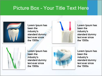 White Tooth and Brush PowerPoint Template - Slide 14