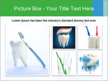 White Tooth and Brush PowerPoint Template - Slide 19