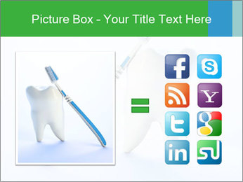 White Tooth and Brush PowerPoint Template - Slide 21