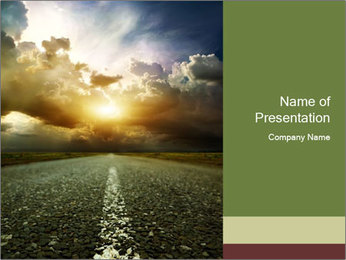 Dark Highway PowerPoint Template - Slide 1