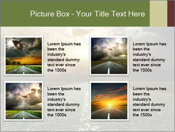 Dark Highway PowerPoint Template - Slide 14