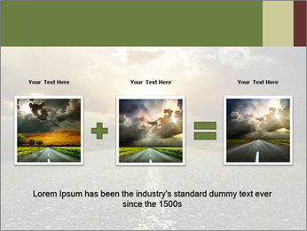 Dark Highway PowerPoint Template - Slide 22