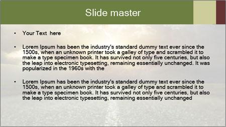 Dark Highway PowerPoint Template - Slide 2