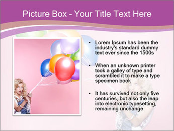 Birthday Woman with Balloons PowerPoint Template - Slide 13