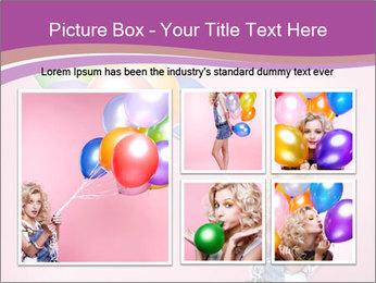 Birthday Woman with Balloons PowerPoint Template - Slide 19