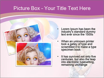Birthday Woman with Balloons PowerPoint Template - Slide 20